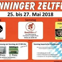 Sunninger Zeltfest 25.-27.05.2018